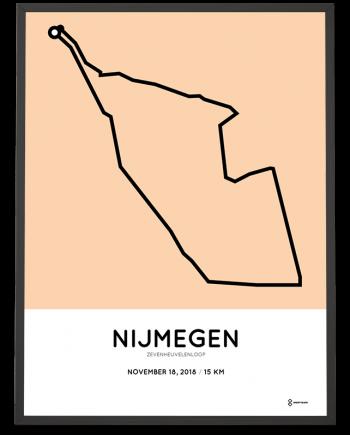 2018 Zevenheuvelenloop parcours poster