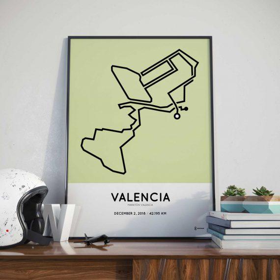 2018 valencia marathon routemap print
