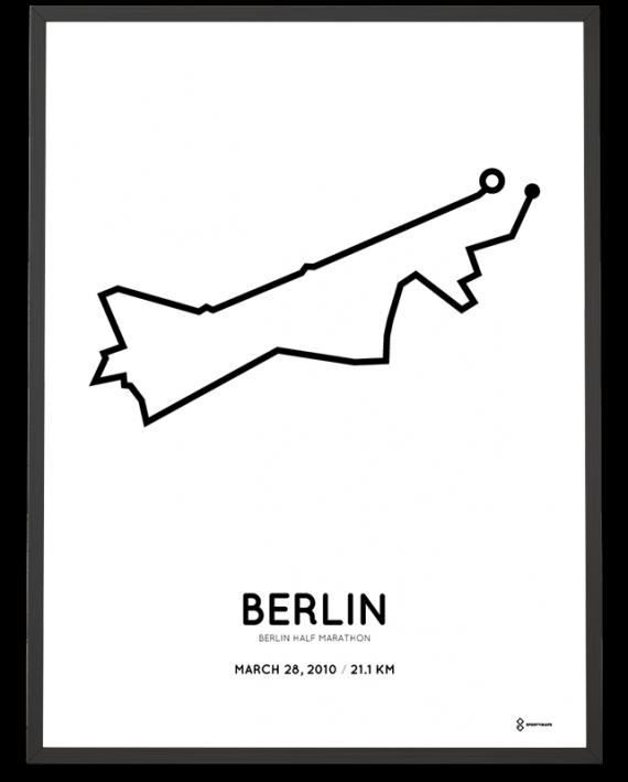2010 Berlin half marathon sportymaps strecke print