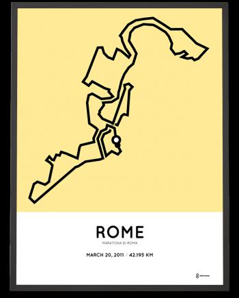 2011 Maratona di Roma percorso print