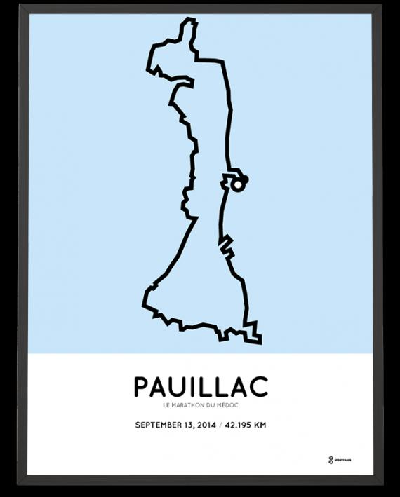 2014 Le Marathon du medoc parcours sportymaps print