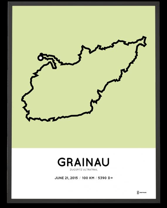 2015 Zugspitz ultratrail course map print