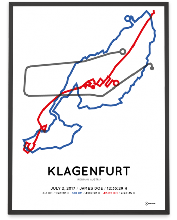 2017 Ironman Klagenfurt Austria course poster