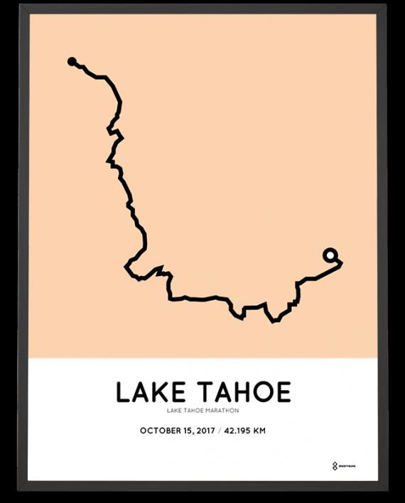 2017 Lake tahoe marathon course poster