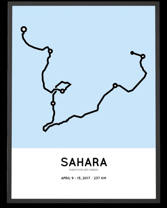 2017 Marathon des Sables course poster