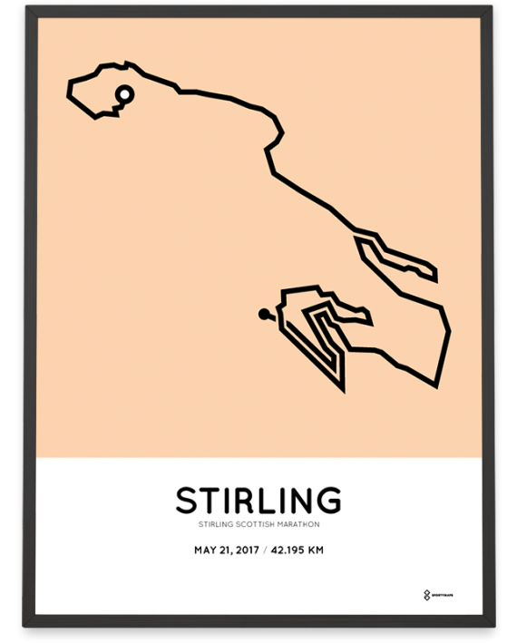2017 Stirling scottish marathon route poster