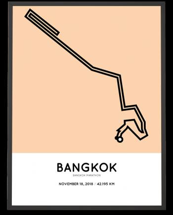 2018 Bangkok marathon course poster