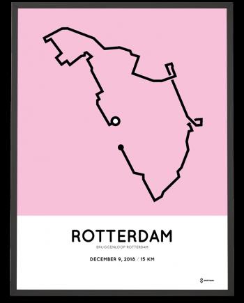 2018 Bruggenloop Rotterdam parcours print