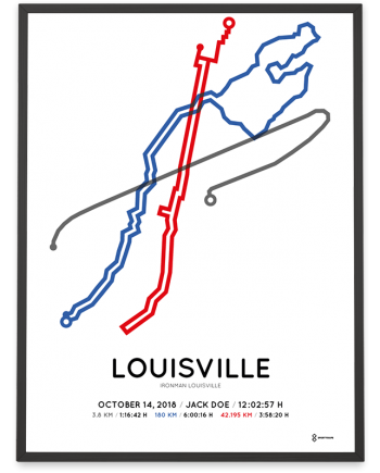 2018 Ironman Louisville course poster