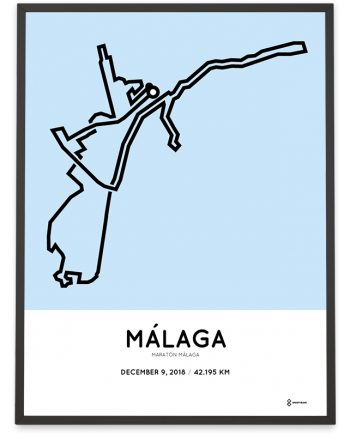 2018 Maraton Malaga course poster