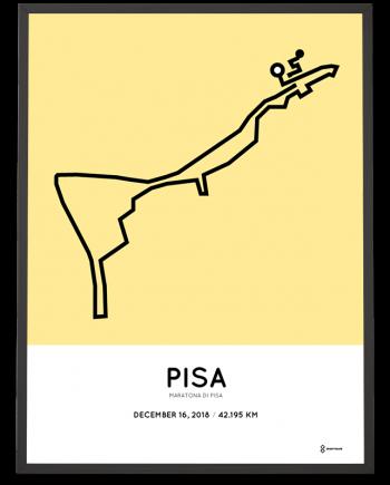 2018 Maratona di Pisa course poster