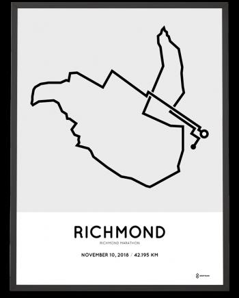 2018 Richmond USA marathon course poster