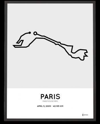 2009 Marathon de Paris route print