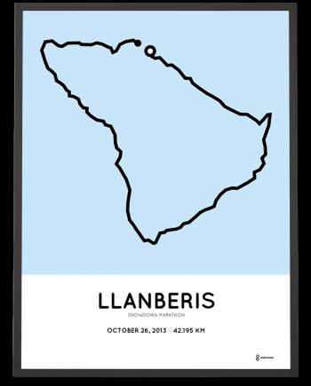 2013 Snowdonia marathon route map print