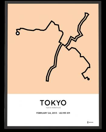 2013 Tokyo marathon sportymaps route print