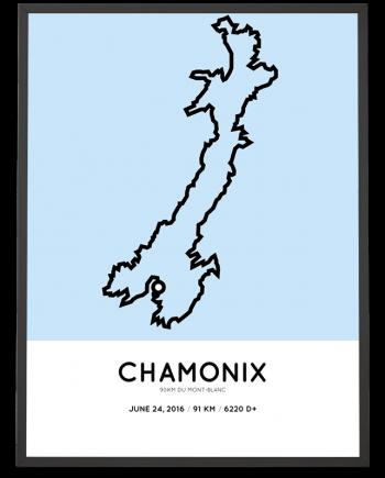 2016 90km du mont-blanc ultramarathon course poster