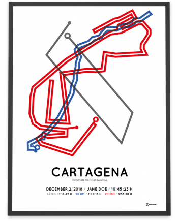 2018 Ironman 70.3 Cartagena course poster