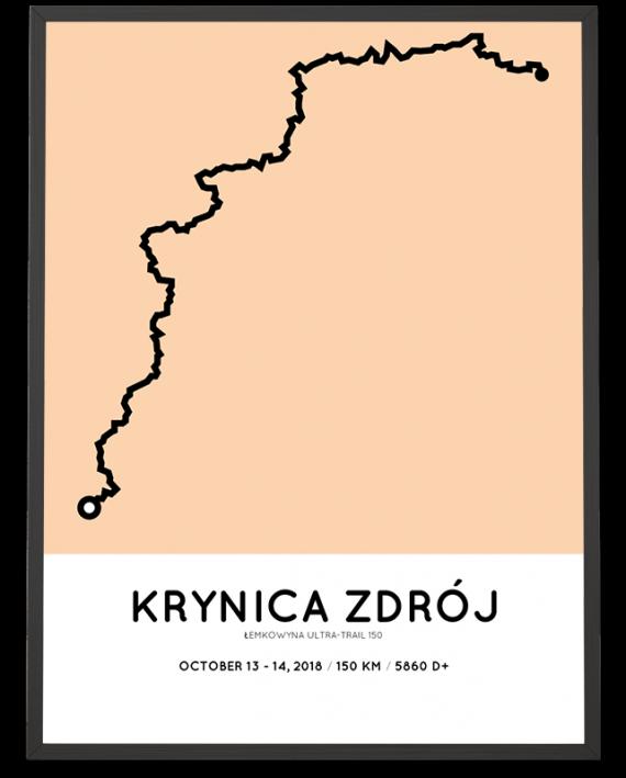 2018 Lemkowyna Ultra-trail 150 km course poster