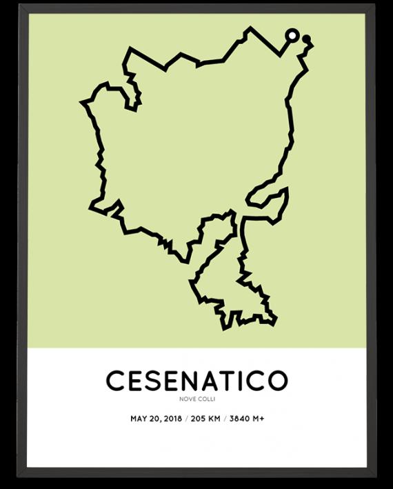 2018 Nove Colli 205km parcours poster