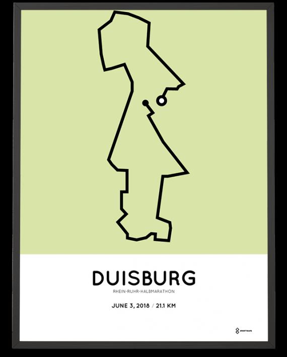 2018 Rhein-ruhr halbmarathon strecke poster