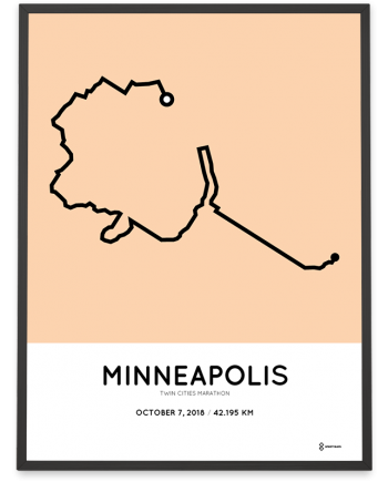 2018 Twin Cities Marathon sportymaps course poster