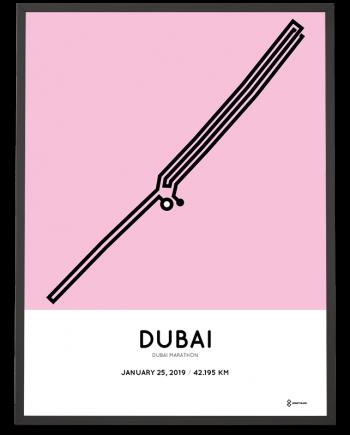 2019 Dubai marathon course poster