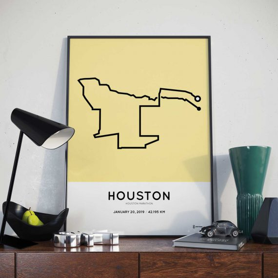 2019 Houston marathon sportymaps routemap print