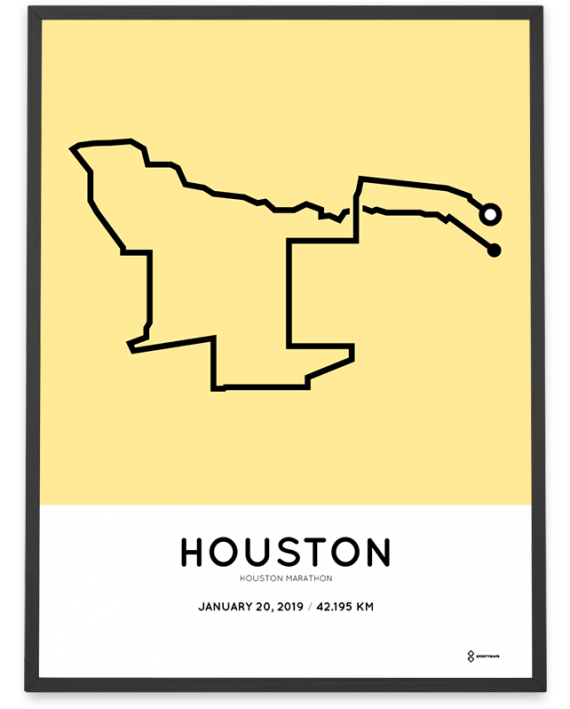 2019 Houston marathon course poster
