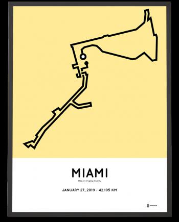 2019 Miami marathon sportymaps course poster