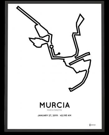 2019 Murcia marathonmap print