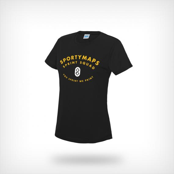 Sportymaps running shirt woman black