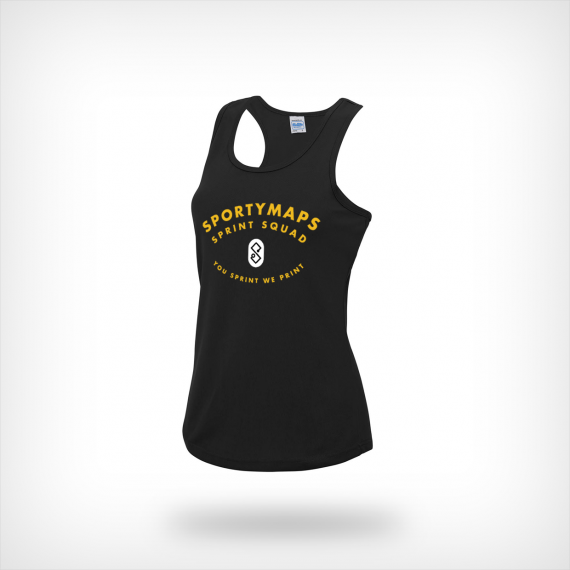 Sportymaps running singlet woman black