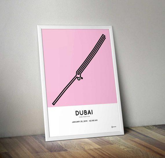 2019 dubai marathon course sportymaps poster