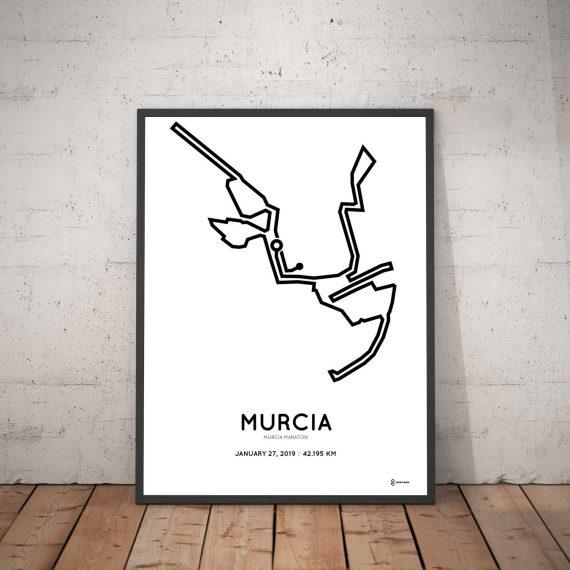 2019 murcia marathon routemap poster