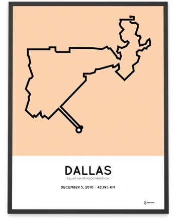 2010 Dallas White Rock marathonermap