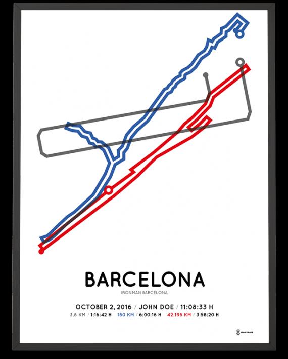 2016 Ironman Barcelona sportymaps course poster