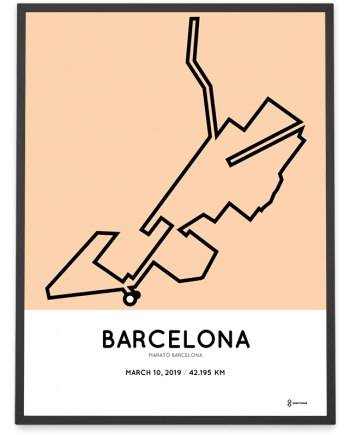 2019 Marató de Barcelona course poster