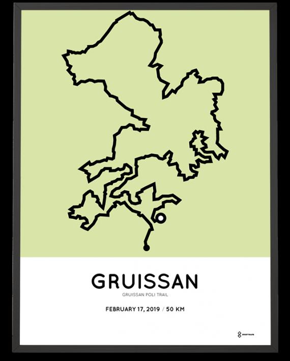 2019 Gruissan Poli Trail 50km parcours print