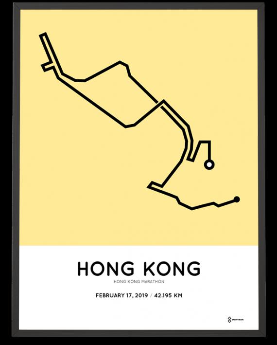 2019 Hong Kong marathon course poster