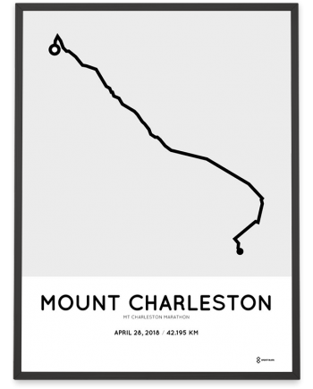 2019 Mt Charleston marathon routemap poster