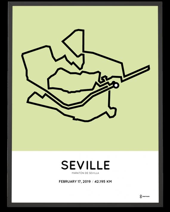 2019 Seville marathon course poster