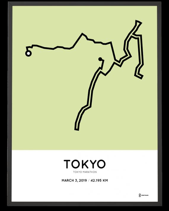 2019 Tokyo marathon course poster