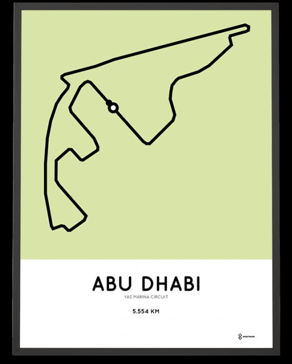 Yas Marina Circuit Formula one poster