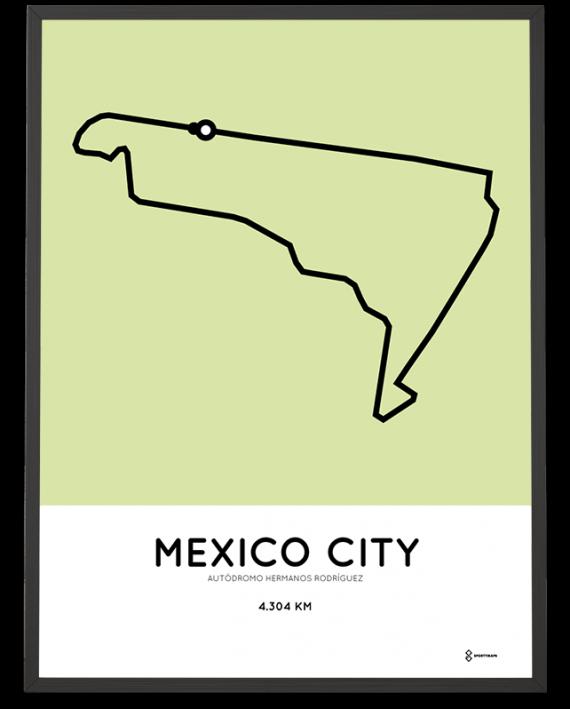 Autódromo Hermanos Rodríguez racetrack poster