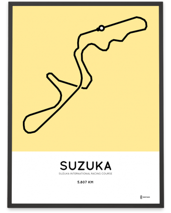 Suzuka International Racing Course racetrack print