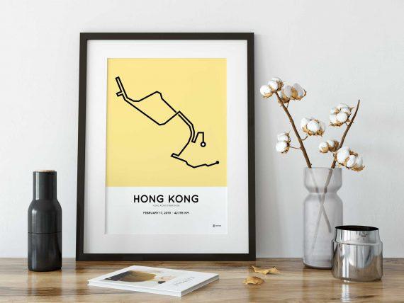 2019 hong kong marathon sportymaps print
