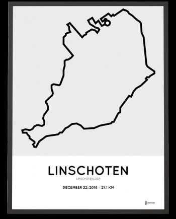 2018 Linschotenloop parcours poster