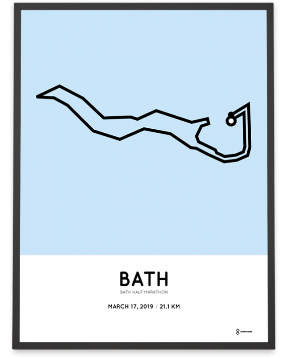 2019 Bath half marathon course poster