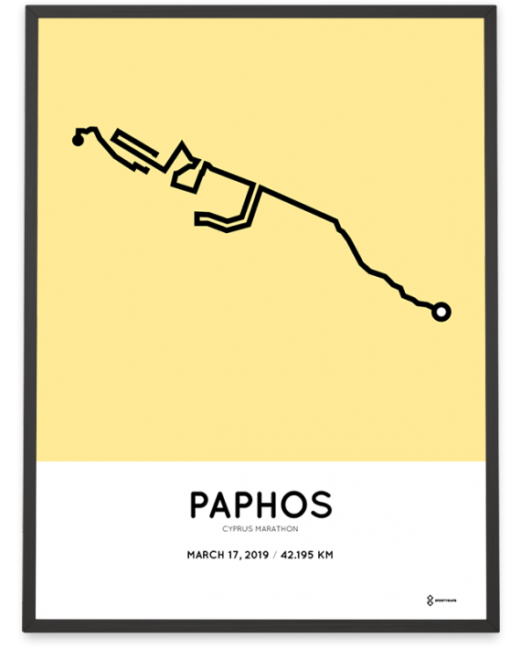 2019 Cyprus marathon course poster