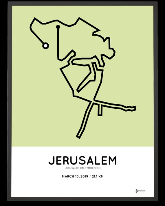 2019 Jerusalem half marathon coursemap print
